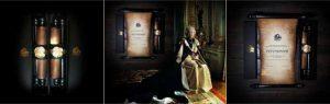 """Королевский свиток """"Елизавета II"""", черный и золотой цвет"""